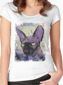 Sphynx Painting Women's Fitted Scoop T-Shirt