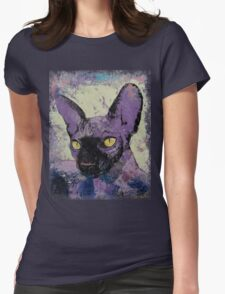 Sphynx Painting Womens Fitted T-Shirt