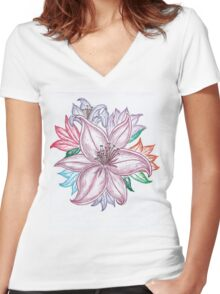 Lilies of the Field Women's Fitted V-Neck T-Shirt