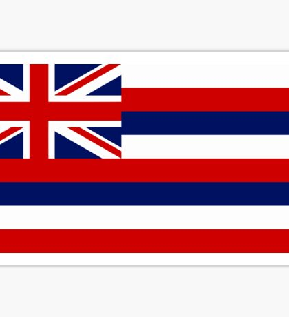 Hawaii State Flag - (Horizontal) Sticker