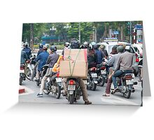 Scooter in Hanoi with Box Load Greeting Card
