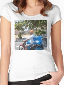Scooter Load in Hoi An Vietnam Women's Fitted Scoop T-Shirt
