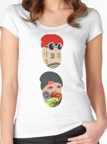 Duo Beans v2 Women's Fitted Scoop T-Shirt
