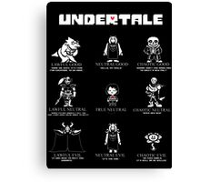 Undertale Character Funny Canvas Print