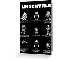 Undertale Character Funny Greeting Card