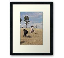 "Zoe Eve "" Shetland Walk"" Framed Print"