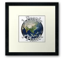 1 People 1 Planet (White) Framed Print