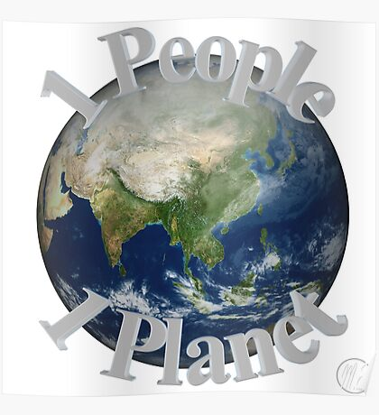 1 People 1 Planet (White) Poster