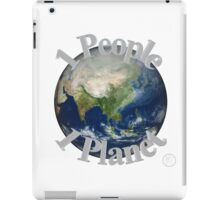 1 People 1 Planet (White) iPad Case/Skin