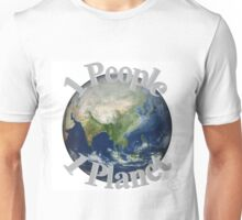 1 People 1 Planet (White) Unisex T-Shirt