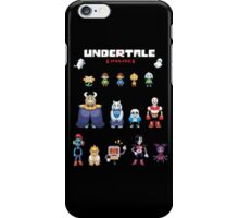 Undertale Character Color Version iPhone Case/Skin