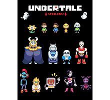 Undertale Character Color Version Photographic Print