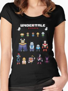 Undertale Character Color Version Women's Fitted Scoop T-Shirt