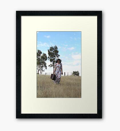 "Zoe Eve ""Country Walk"" Framed Print"