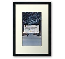 Misha Tweet  Framed Print
