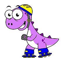 Illustration of a skating Tyrannosaurus Rex. by StocktrekImages