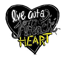 """Jet Black Heart"" By 5 Seconds Of Summer Lyric Drawing by abundancedraws"