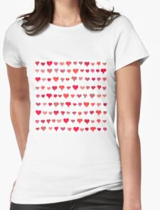 Painted hearts seamless pattern Womens Fitted T-Shirt