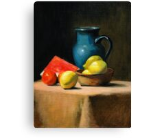 Fruit & Jug Canvas Print