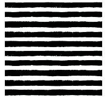 Vector Brush Strokes Black White Pattern Photographic Print
