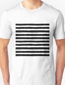 Vector Brush Strokes Black White Pattern Unisex T-Shirt