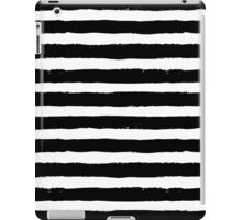 Vector Brush Strokes Black White Pattern iPad Case/Skin