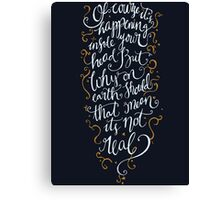 Dumbledore Quote Canvas Print