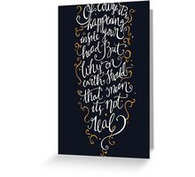 Dumbledore Quote Greeting Card