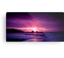 Glowing North Cornish Sunsets Metal Print