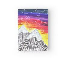 Three Mountain Sunset - Indie Watercolor Design Hardcover Journal