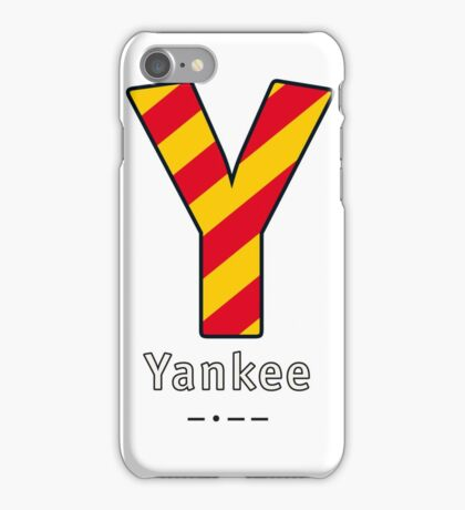 Y = Yankee iPhone Case/Skin