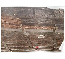 The Seated Spectator At Ephesus Ancient Theatre Poster