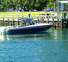 Fantastic Boat approaching Loading Bay - Port Fairy, Vic. AUST. by EdsMum