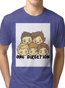 One Direction Cartoony Faces! Tri-blend T-Shirt