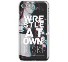 WRESTLE C.V.E. AT OWN RISK. iPhone Case/Skin