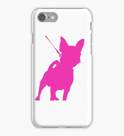 Pink Chihuahua Silhouette iPhone Case/Skin