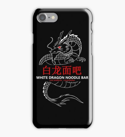 White Dragon Noodle Bar iPhone Case/Skin