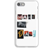 Make my Day - anonymous threatening letters - SQUARE iPhone Case/Skin