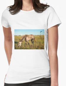 Horse in the countryside  Womens Fitted T-Shirt