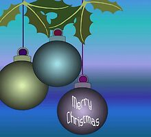 Merry Christmas Tree Ornaments by taiche