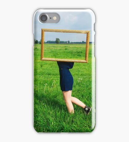Surrealistic picture frame iPhone Case/Skin