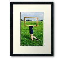Surrealistic picture frame Framed Print