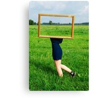 Surrealistic picture frame Canvas Print