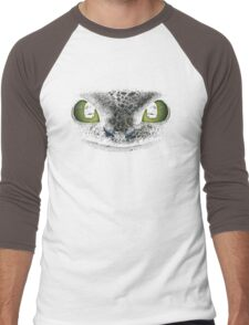 Awesome dragon face. Transparent vectorial design. Men's Baseball ¾ T-Shirt