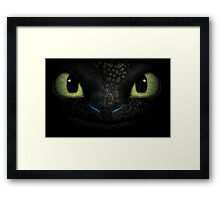 Awesome dragon face. Transparent vectorial design. Framed Print