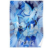 Celtic Peace Dove Greeting Poster
