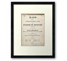 Civil War Maps 1104 Maps illustrating Gen'l Sherman's ''March to the sea'' and through the Carolinas and Virginia 02 Framed Print