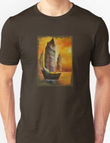 Golden Chinese Junk In Shades Of Ochre and Umber T-Shirt