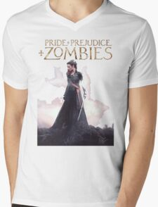 pride prejudice zombies the movie story Mens V-Neck T-Shirt
