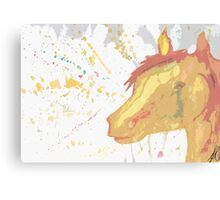 Splatter Horse Canvas Print